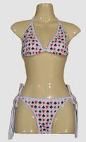 Poker white bikini lady