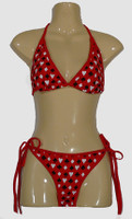 Poker red bikini lady