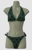 M skull green bikini lady