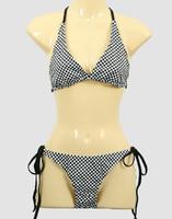 Check black-white bikini lady