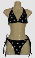 3D star black bikini lady