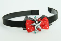 Black-red / star cherry black-white red bow & mix