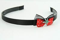 Black-red / marijuana red bow & mix