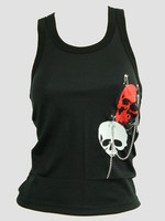Front - PUT big skull red / skull white top punk top
