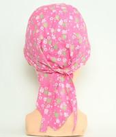 Flower pink bandana headwear