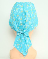 Flower blue bandana headwear