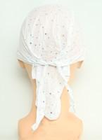 Plain white bandana headwear