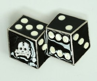 Dice skull medium buckle