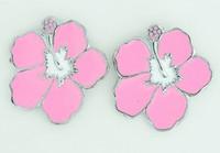 Hibiscus pink cute stud