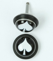 Ace black-white half globe fake piercing