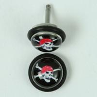 Pirate half globe fake piercing