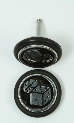 Dice black S&M fake piercing