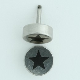 Star silver S&M fake piercing