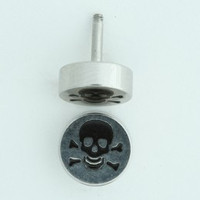 Skull bone S&M fake piercing