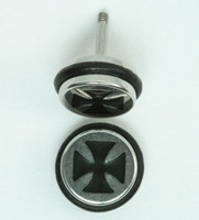 Herocross silver-black S&M fake piercing