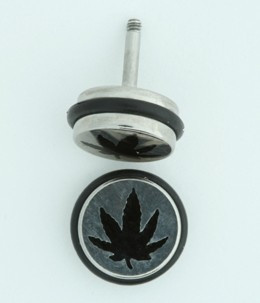 MRU marijuana S&M fake piercing