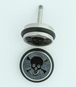MRU skull bone S&M fake piercing
