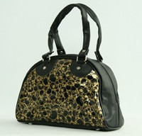 Cemetery black-gold small bowling bag