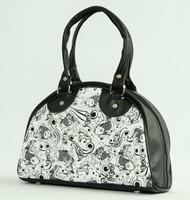 Carper black-white small bowling bag