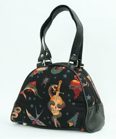Flash black small bowling bag