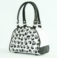 Cemetery white small bowling bag