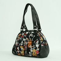 Skelet black small bowling bag