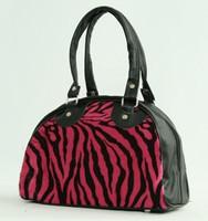 Zebra pink small bowling bag