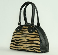 Zebra brown small bowling bag