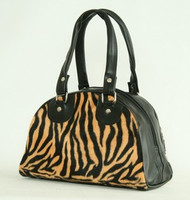 Zebra orange small bowling bag