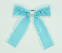Lace blue-white mix hair clips piece
