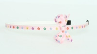 Flower L pink small bow