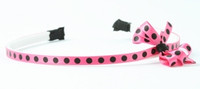 Dot Pink-black small bow