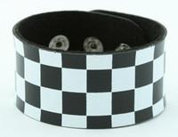Check L black-white big stripes & checker