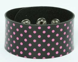 Dot black-pink big stripes & checker