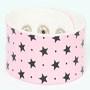 Star pink-black big stripes & checker