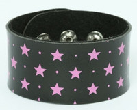 Star black-pink big stripes & checker