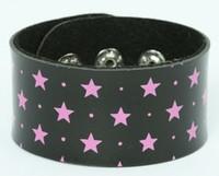 Star black-pink big stripes & checker