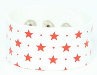 Star white-red big stripes & checker