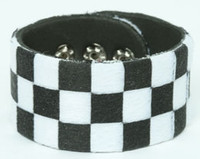 Check black-white F big stripes & checker