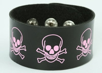 Skull happy black-pink big stripes & checker