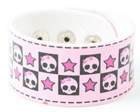 Cute skull star pink S big stripes & checker