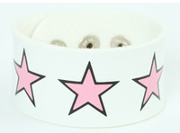 Star big white-pink big stripes & checker
