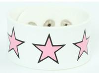 Star big white-pink big stripes & checker