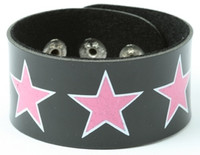 Star big black-pink big stripes & checker