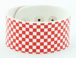 Check S red-white big stripes & checker