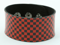 Check S black-red big stripes & checker