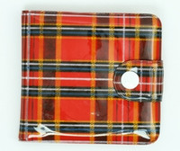 Scotch red wallet PVC wallet
