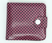 Check D pink wallet PVC wallet