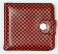 Check red-black wallet PVC wallet