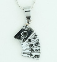 Cards mix necklace